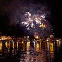 Schifffahrt auf der Mosel und Feuerwerk